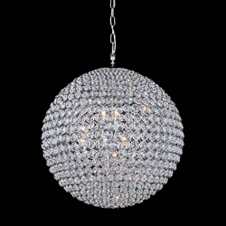 """24"""" 12 Light  Chandelier with Chrome finish"""
