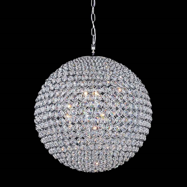 "Picture of 24"" 12 Light  Chandelier with Chrome finish"