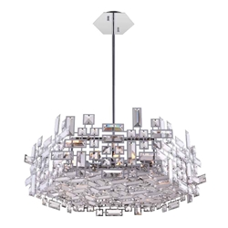 "24"" 12 Light  Chandelier with Chrome finish"