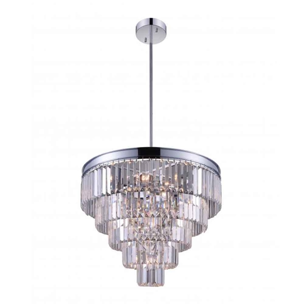 "Picture of 24"" 12 Light Down Chandelier with Chrome finish"