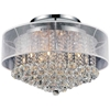 """Picture of 24"""" 12 Light Drum Shade Flush Mount with Chrome finish"""