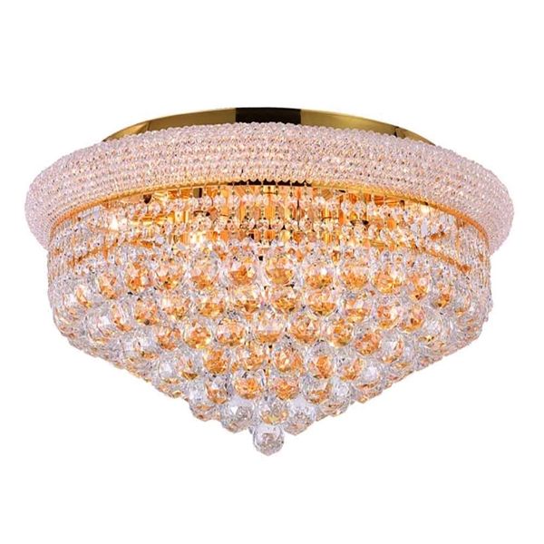"Picture of 24"" 13 Light  Flush Mount with Gold finish"