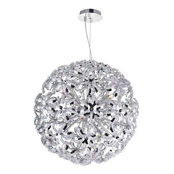 """Picture of 24"""" 14 Light Down Chandelier with Chrome finish"""