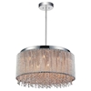 "Picture of 24"" 14 Light Drum Shade Chandelier with Chrome finish"