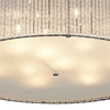 "Picture of 24"" 14 Light Drum Shade Flush Mount with Chrome finish"