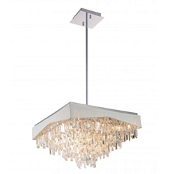 """24"""" 17 Light Down Chandelier with Chrome finish"""
