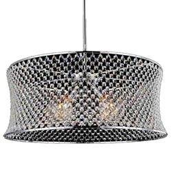 """24"""" 3 Light Down Chandelier with Chrome finish"""