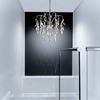"""Picture of 24"""" 3 Light Down Chandelier with Silver Mist finish"""