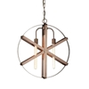 "Picture of 24"" 3 Light Down Pendant with Brown finish"