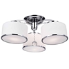 """Picture of 24"""" 3 Light Drum Shade Flush Mount with Chrome finish"""