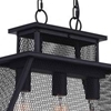 "Picture of 24"" 3 Light Island Chandelier with Reddish Black finish"