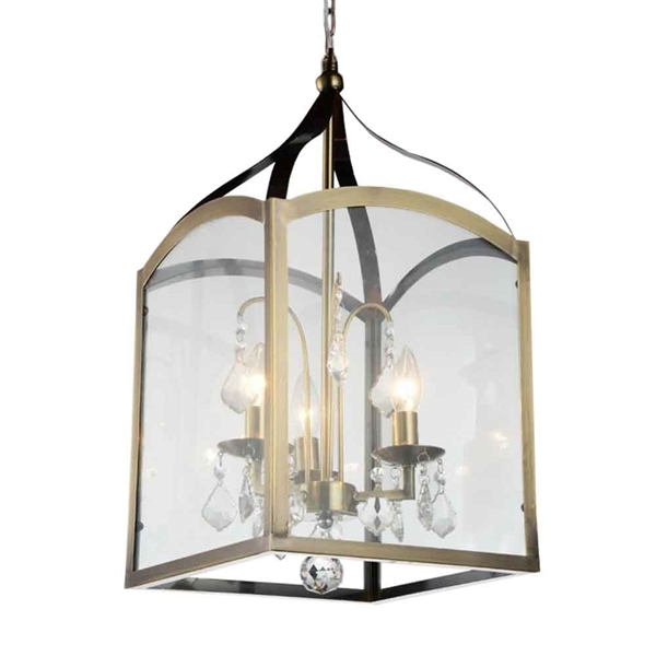 "Picture of 24"" 3 Light Up Mini Pendant with Antique Bronze finish"