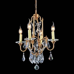 "24"" 4 Light Up Chandelier with Oxidized Bronze finish"