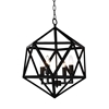 "Picture of 24"" 4 Light Up Pendant with Black finish"