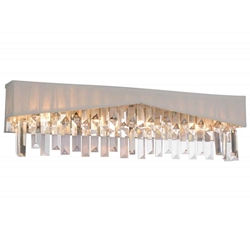 """24"""" 4 Light Wall Sconce with Chrome finish"""