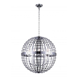"""24"""" 5 Light  Chandelier with Chrome finish"""