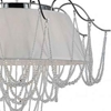 "Picture of 24"" 5 Light Drum Shade Chandelier with Chrome finish"