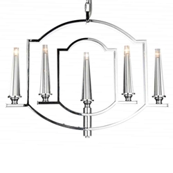 """24"""" 5 Light Up Chandelier with Chrome finish"""