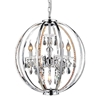 "Picture of 24"" 5 Light Up Chandelier with Chrome finish"