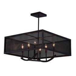 "24"" 6 Light Chandelier with Antique Copper Finish"