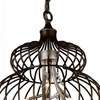 "Picture of 24"" 6 Light Down Chandelier with Antique Gold finish"