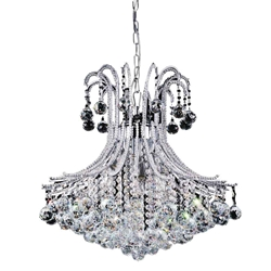 """24"""" 6 Light Down Chandelier with Chrome finish"""