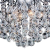 "Picture of 24"" 6 Light Down Chandelier with Chrome finish"