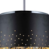 """Picture of 24"""" 6 Light Drum Shade Chandelier with Black finish"""