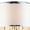 "Picture of 24"" 6 Light Drum Shade Flush Mount with Chrome finish"