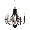 "Picture of 24"" 6 Light Up Chandelier with Black finish"