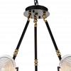 """Picture of 24"""" 6 Light Up Chandelier with Brown finish"""