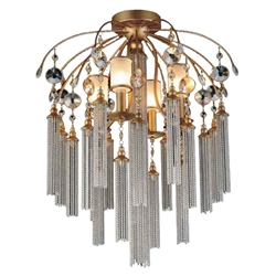"""24"""" 7 Light  Flush Mount with French Gold finish"""