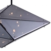 """Picture of 24"""" 8 Light  Pendant with Black finish"""