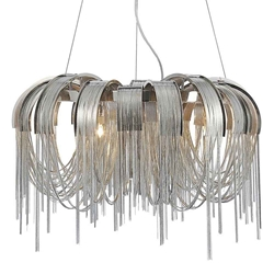 """24"""" 8 Light Down Chandelier with Chrome finish"""