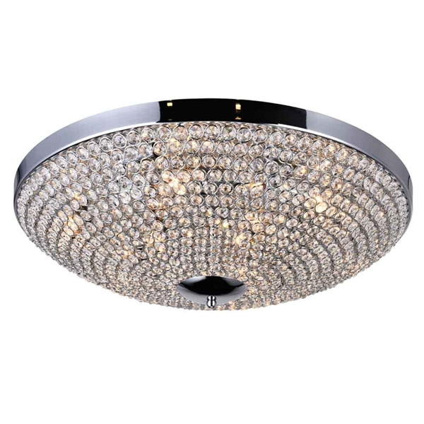 "Picture of 24"" 9 Light Bowl Flush Mount with Chrome finish"