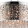 "Picture of 24"" 9 Light Drum Shade Chandelier with Chrome finish"