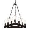 "Picture of 24"" 9 Light Up Chandelier with Rust finish"