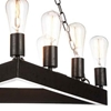 """Picture of 24"""" 9 Light Up Chandelier with Rust finish"""