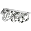 "Picture of 24"" Anelli Modern Crystal Rectangular Flush Mount Polished Chrome 36 LED Lights"