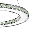 """Picture of 24"""" Anelli Modern Crystal Round Single Ring Chandelier Polished Chrome 24 LED Lights"""
