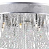"Picture of 24"" Chateaux Modern Foyer Crystal Chandelier Mirror Stainless Steel Base 16+3 Lights"