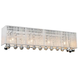 "24"" Gocce Modern Crystal String Shade Vanity Light Wall Sconce 4 Lights"
