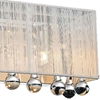 """Picture of 24"""" Gocce Modern Crystal String Shade Vanity Light Wall Sconce 4 Lights"""