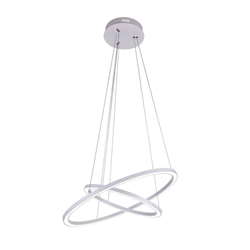 """24"""" LED  Chandelier with White finish"""