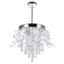 """24"""" LED Down Chandelier with Chrome finish"""