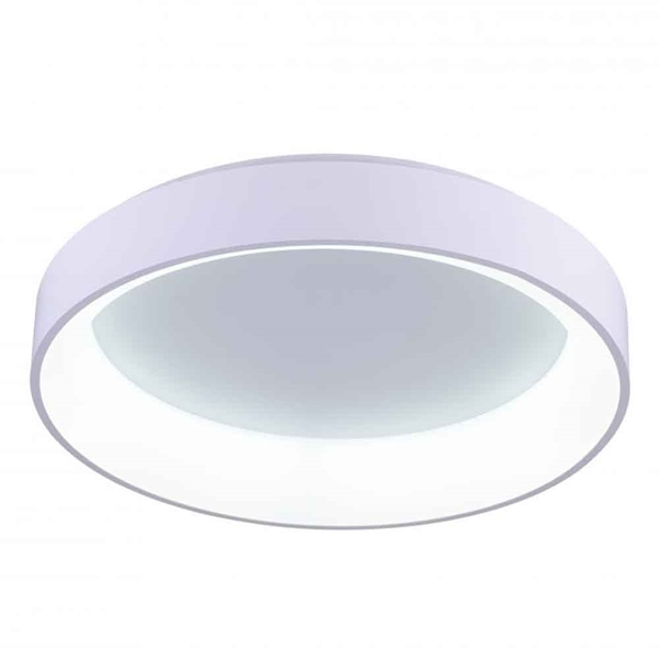 """Picture of 24"""" LED Drum Shade Flush Mount with White finish"""