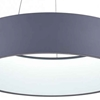 "Picture of 24"" LED Drum Shade Pendant with Gray & White finish"