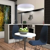 """Picture of 24"""" LED Drum Shade Pendant with White finish"""