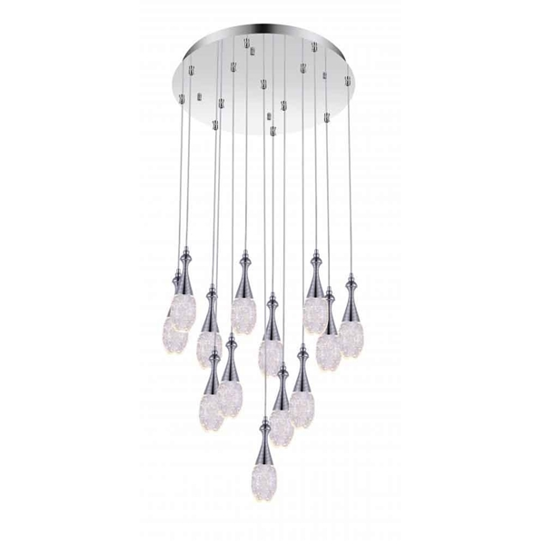 "Picture of 24"" LED Multi Point Pendant with Chrome finish"