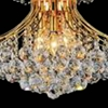 """Picture of 24"""" Monarch Crystal Round Chandelier Chrome / Gold 10 Lights"""